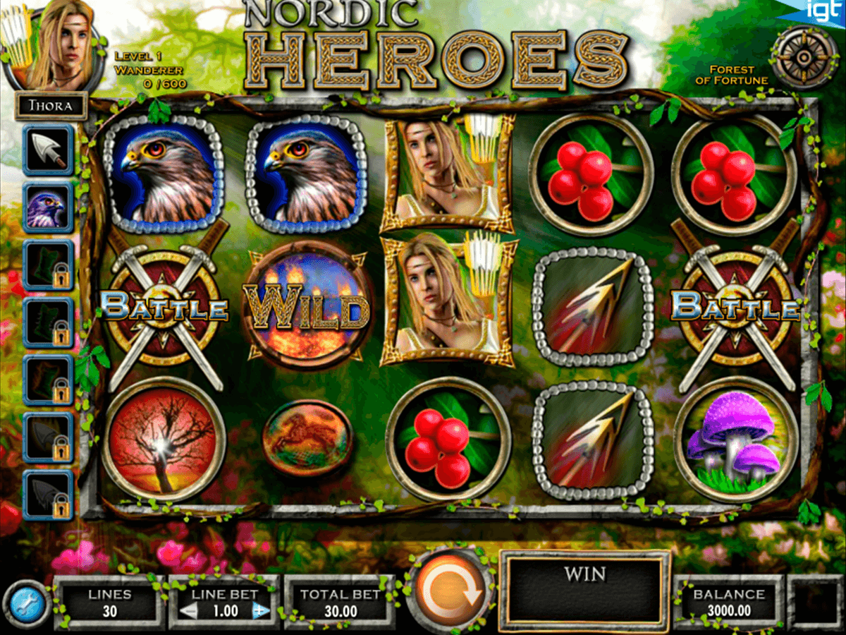 Nordic heroes igt machine a sous