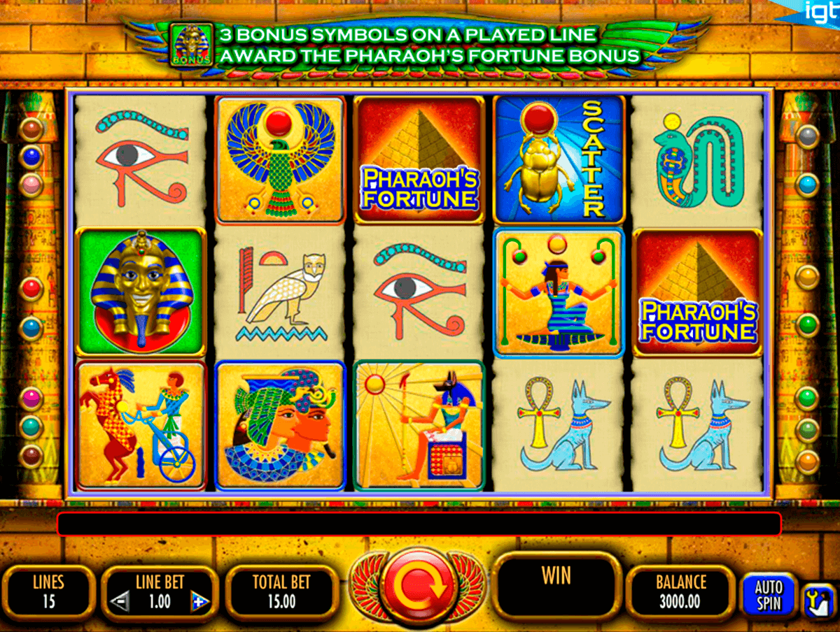 pharaohs fortune igt machine a sous