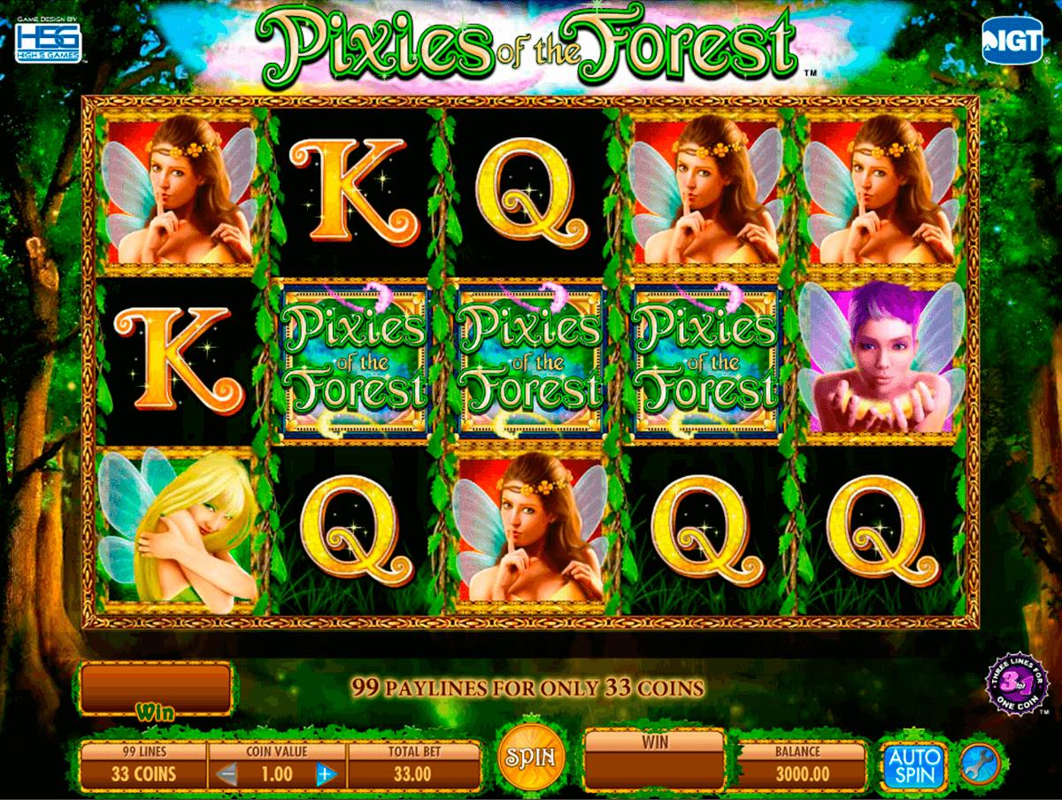 Pixies of the forest igt machine a sous