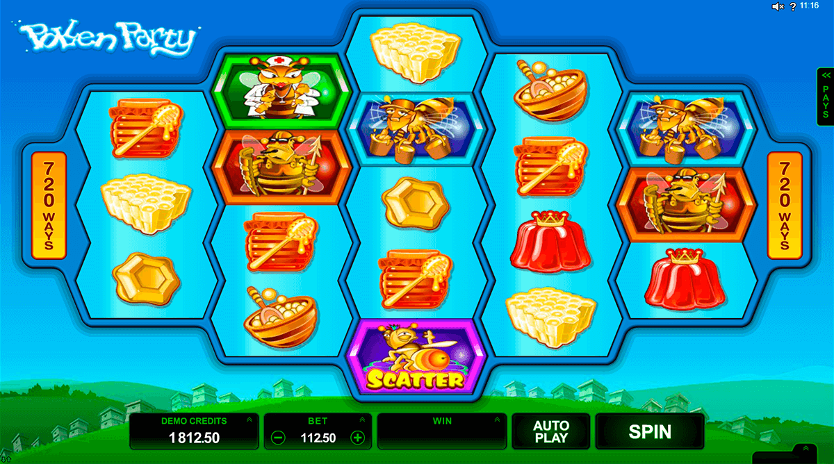 Pollen party microgaming machine a sous