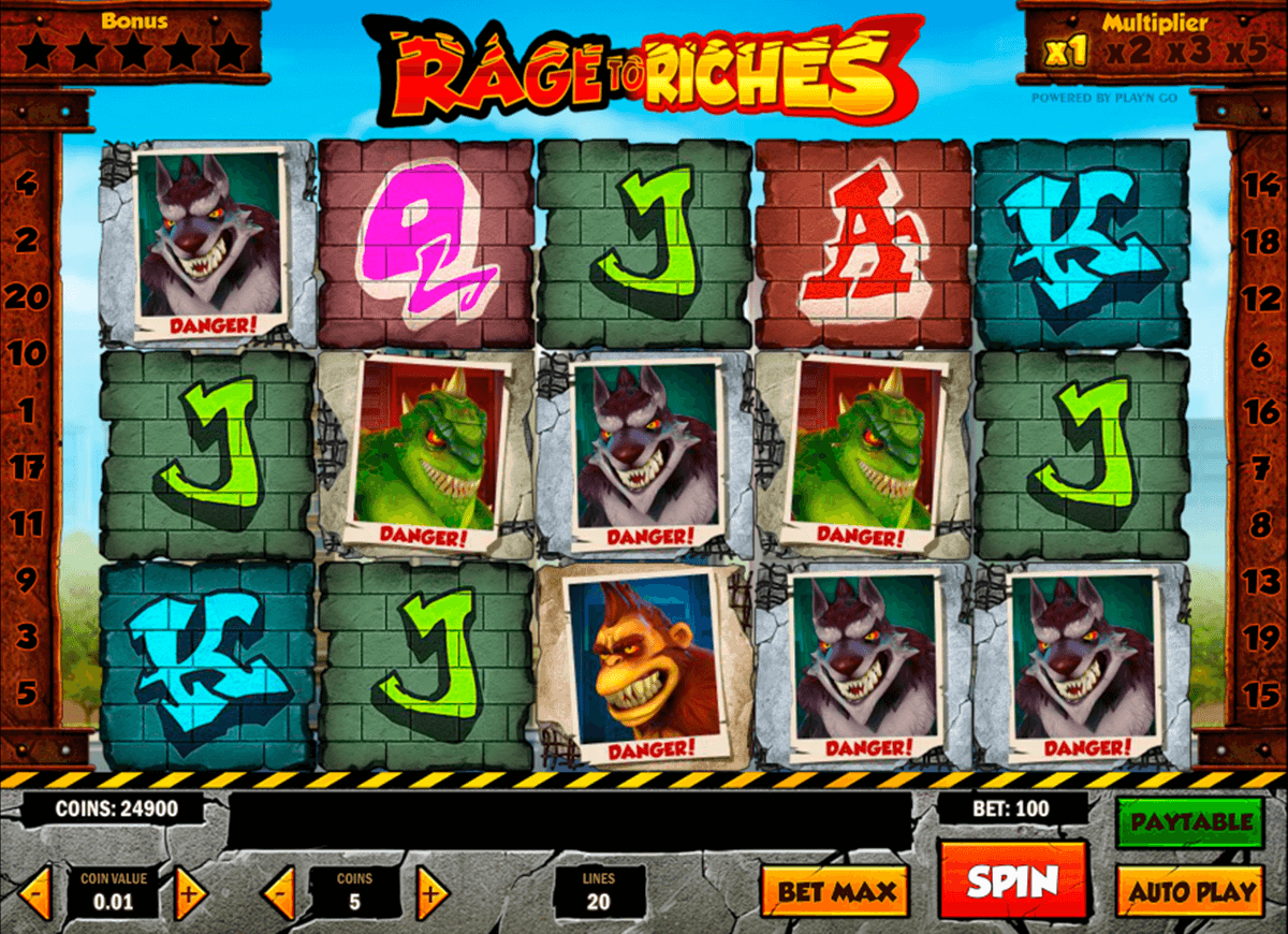 Rage to riches playn go machine a sous