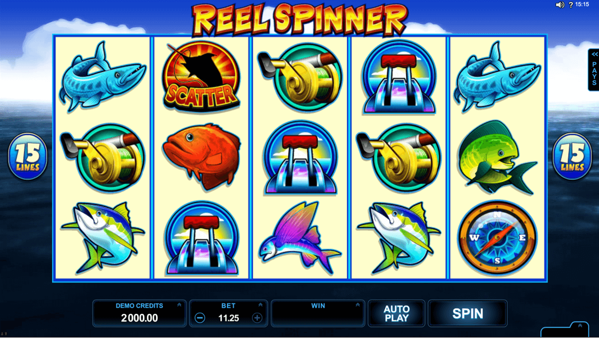 Reel spinner microgaming machine a sous