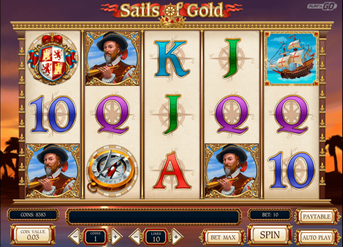 Sails of gold playn go machine a sous