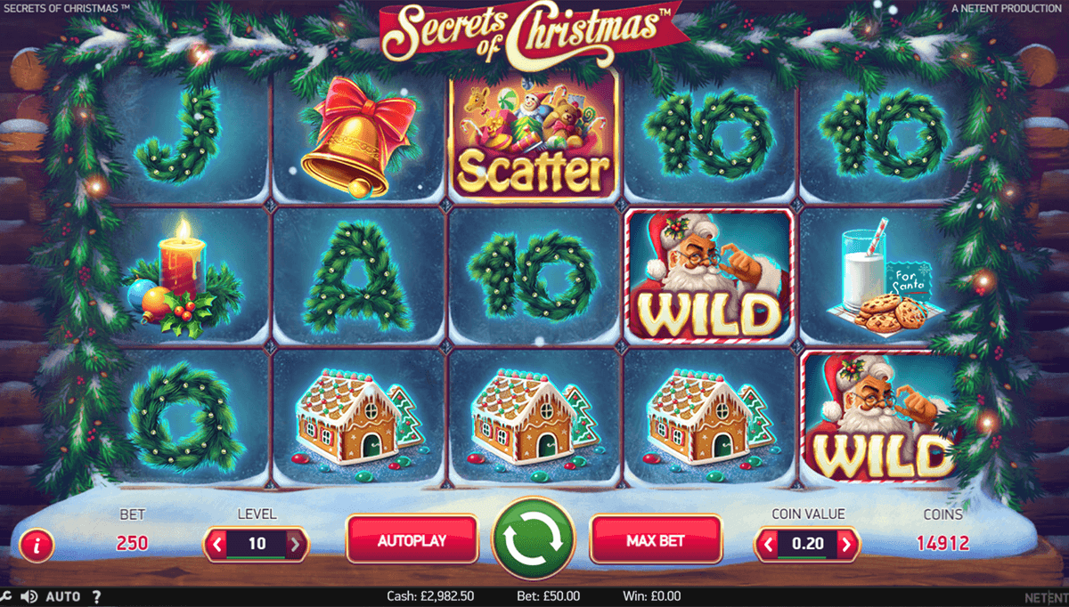 Secrets of christmas netent machine a sous