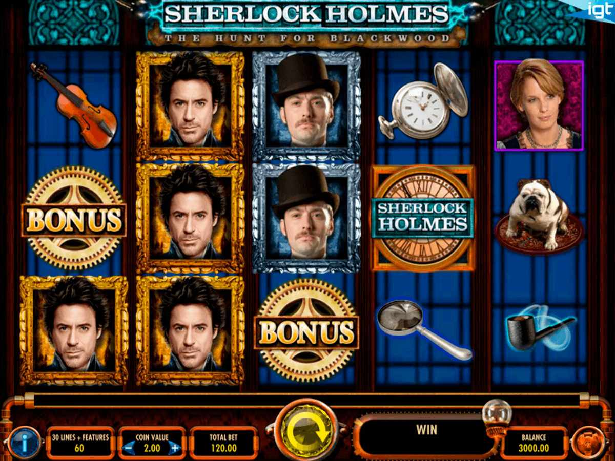 Sherlock holmes the hunt for blackwood igt machine a sous