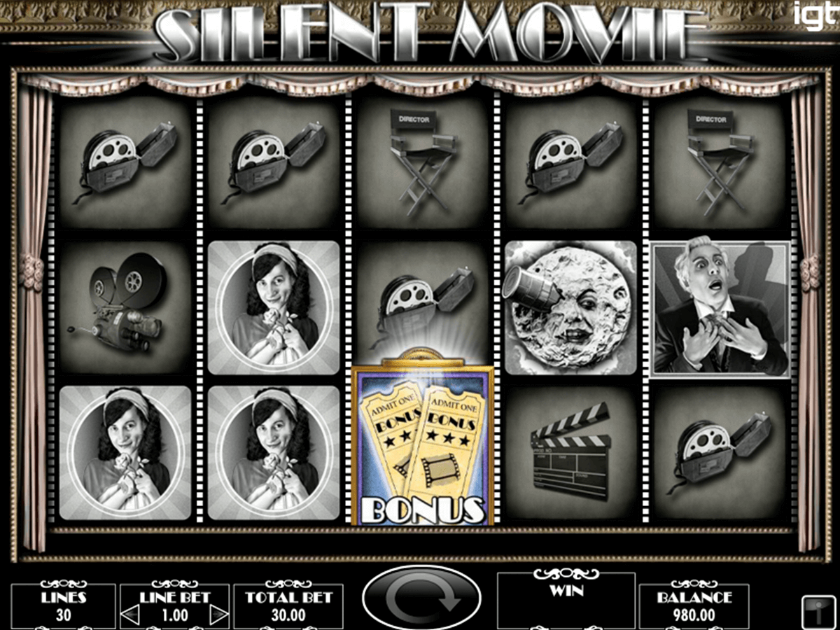 Silent movie igt machine a sous