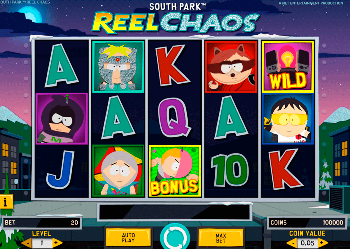 South park reel chaos netent machine a sous