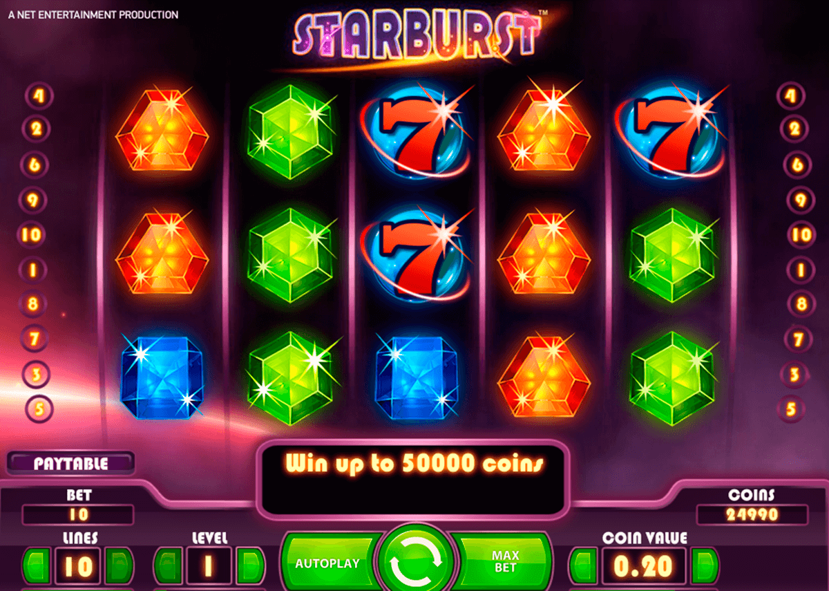 starburst netent machine a sous