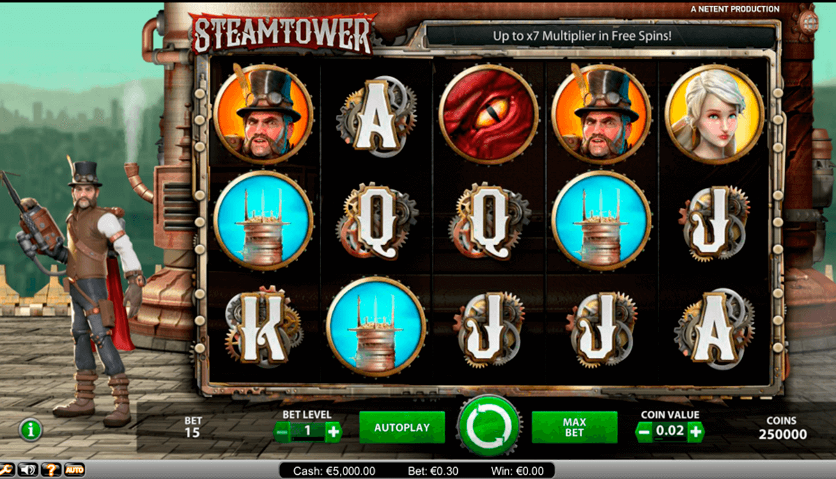 Steam tower netent machine a sous