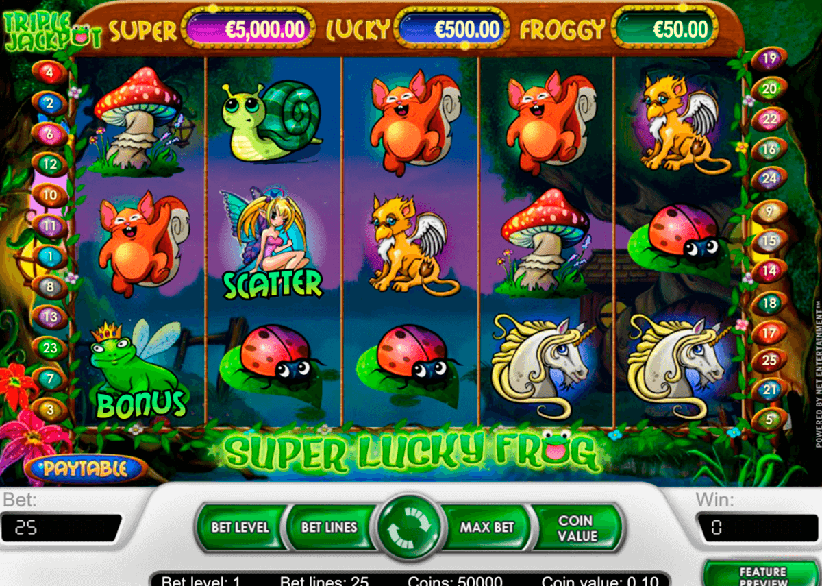 super lucky frog netent machine a sous