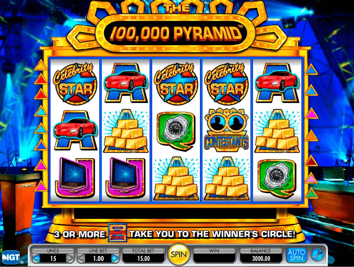 The 100000 pyramid igt machine a sous
