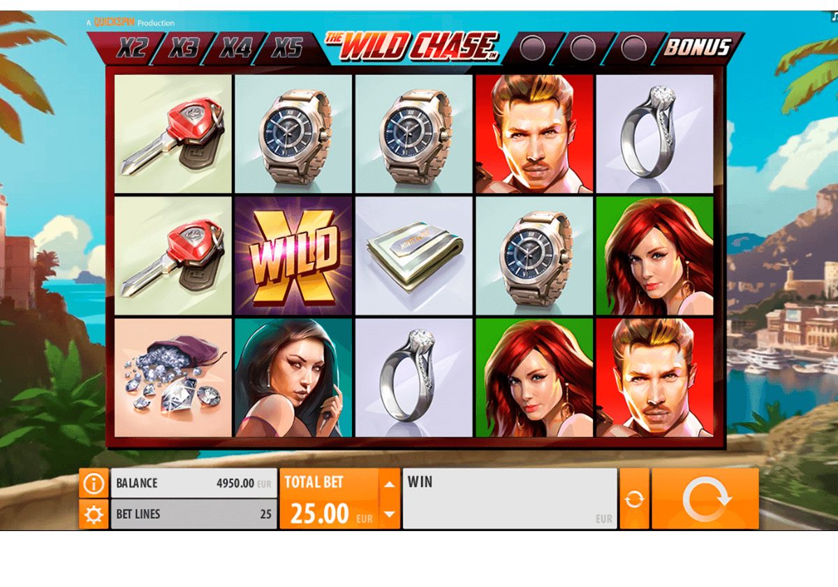 the wild chase quickspin machine a sous