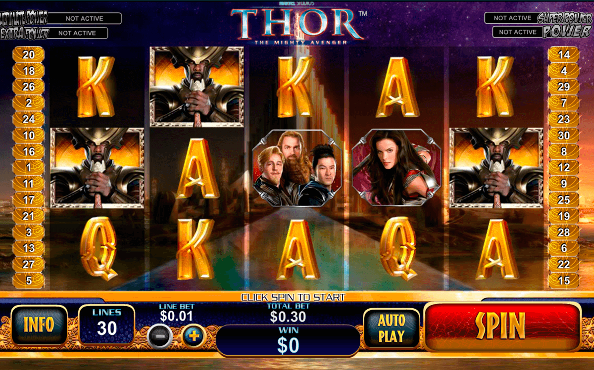thor the mighty avenger playtech machine a sous
