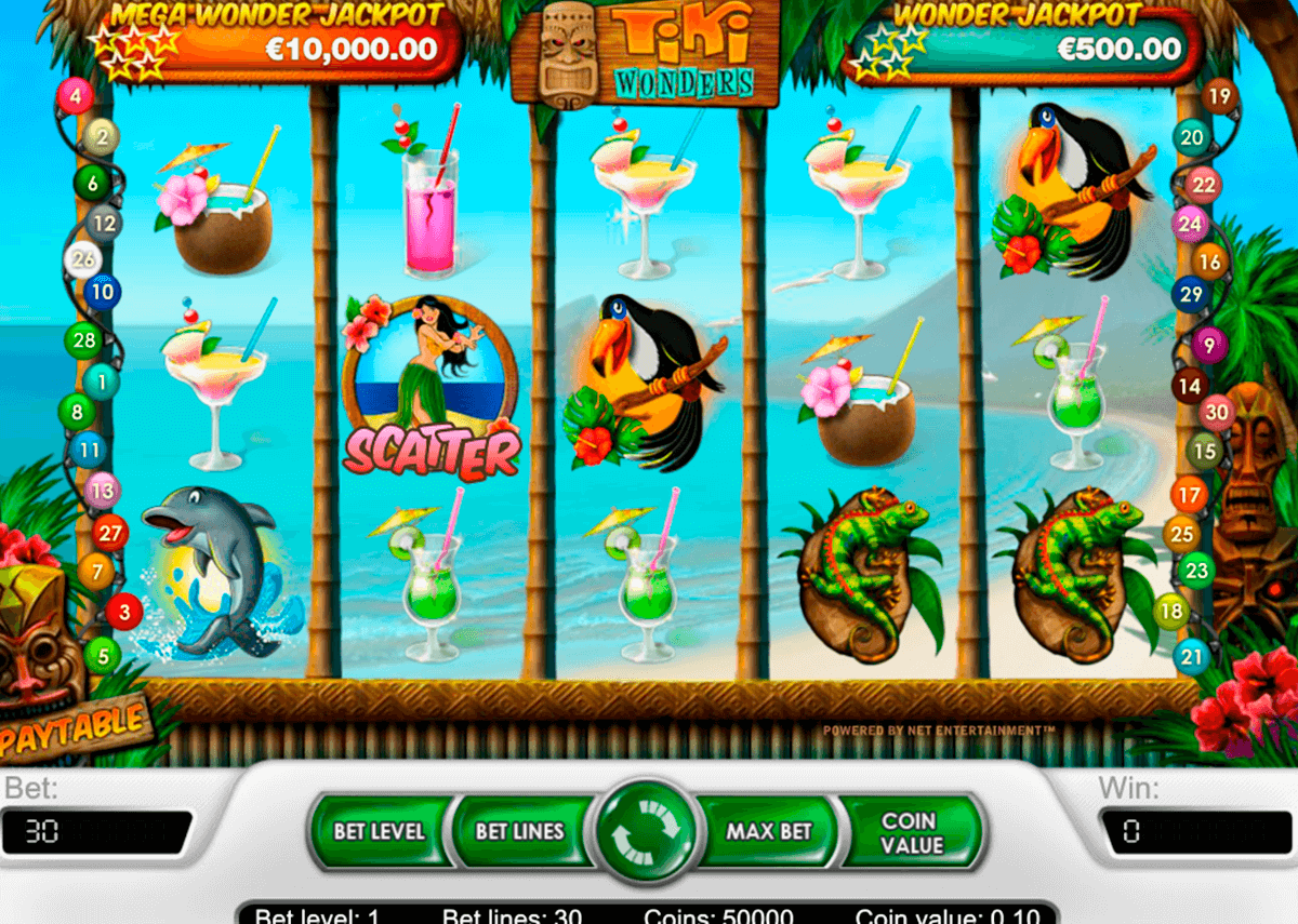 Tiki wonders netent machine a sous