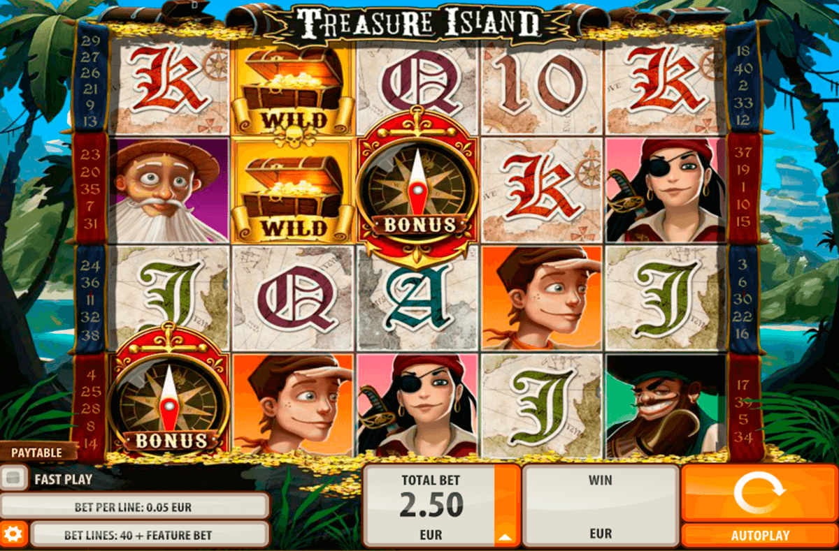Treasure island quickspin machine a sous