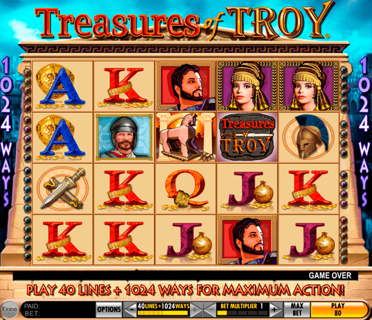 treasures of troy igt machine a sous