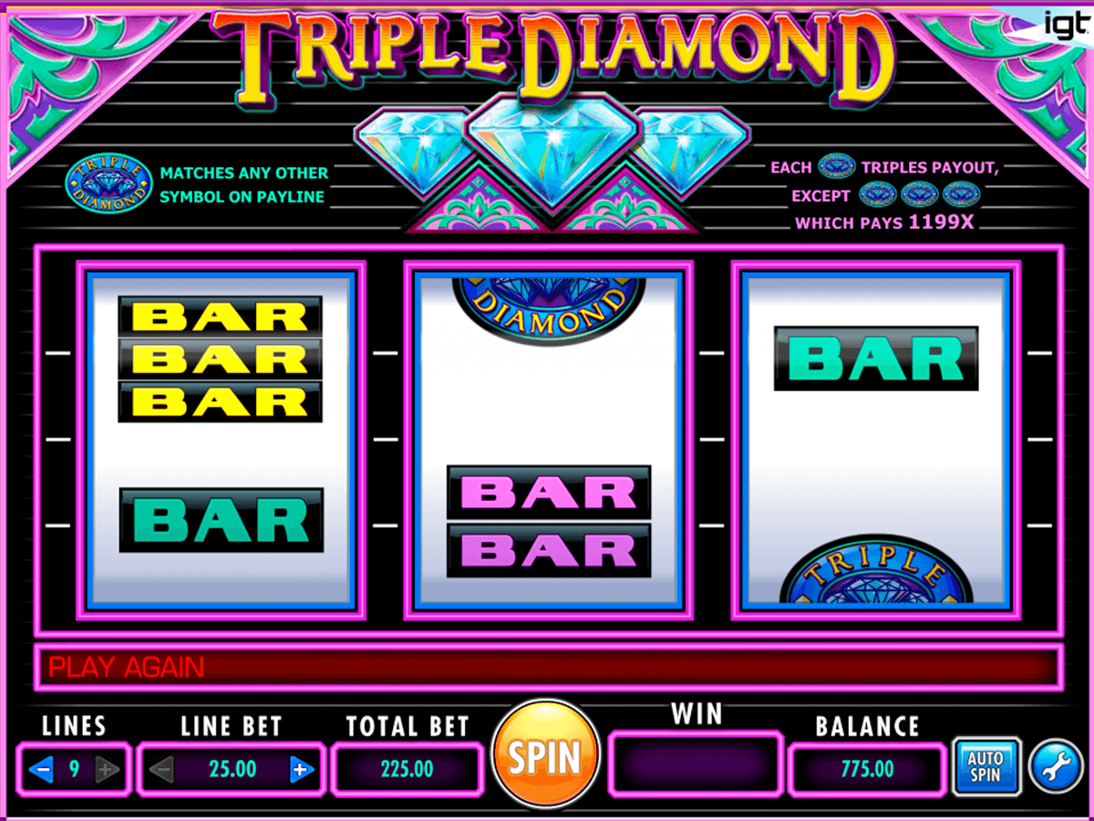 Triple diamond igt machine a sous