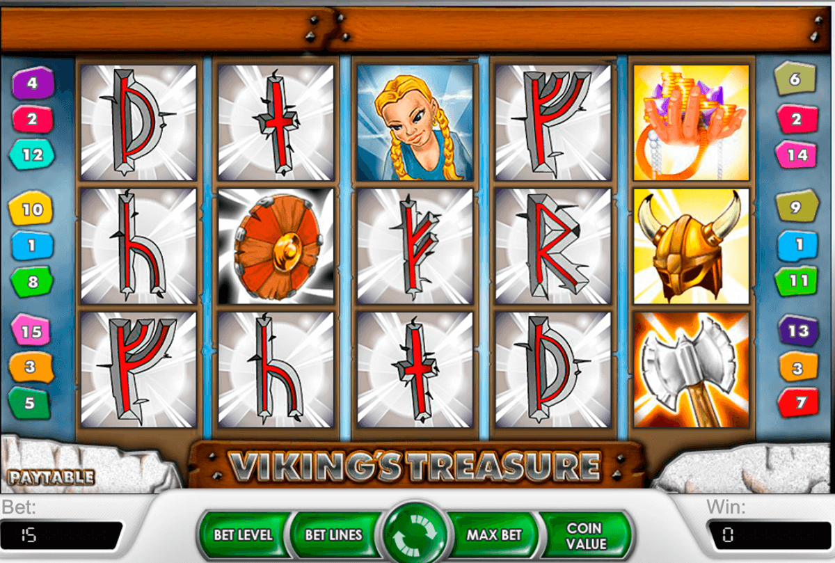 Vikings treasure netent machine a sous