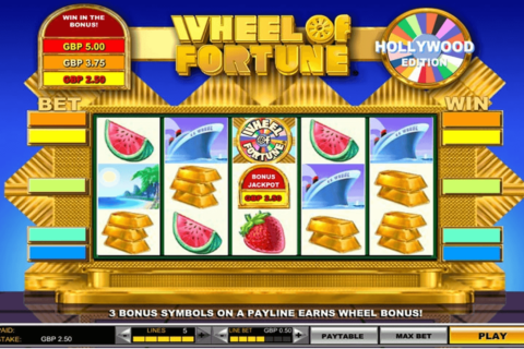 Wheel of fortune hollywood edition igt machine a sous