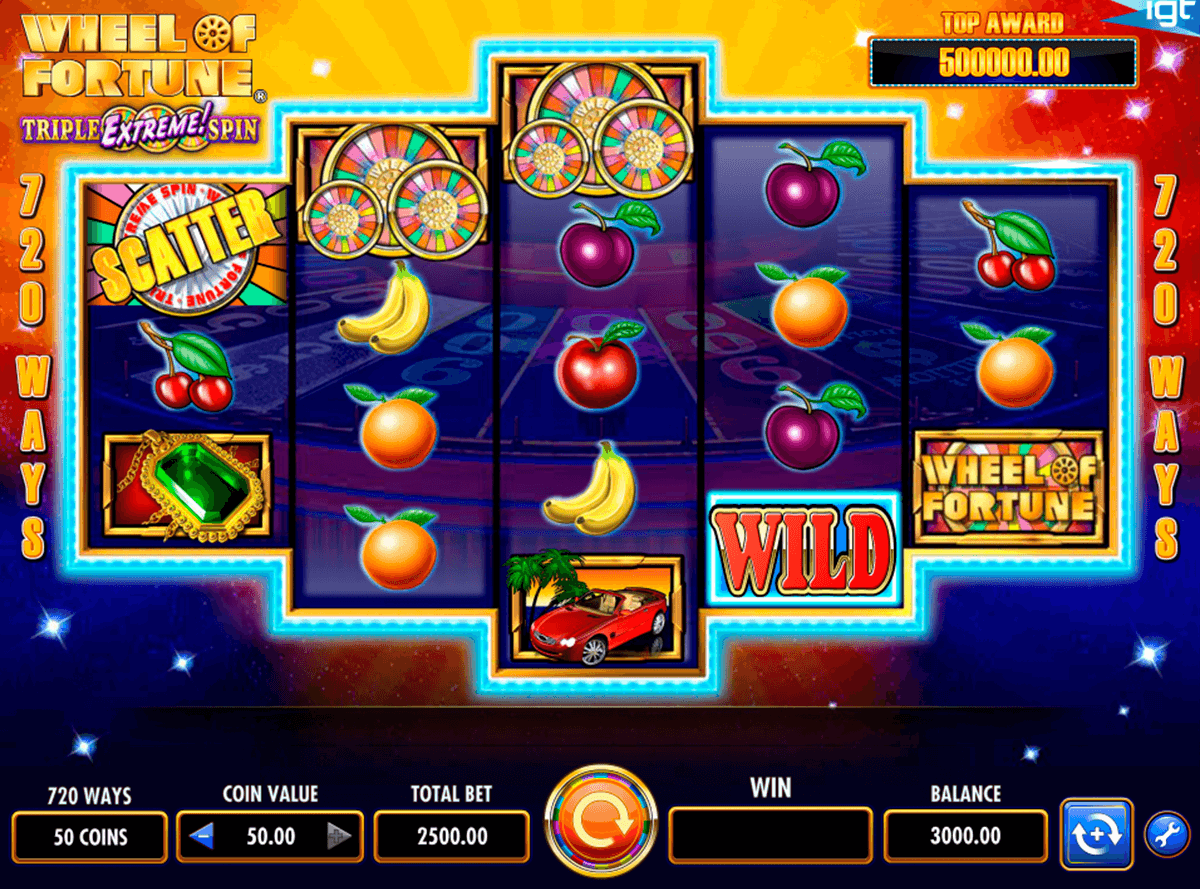 Wheel of fortune igt machine a sous