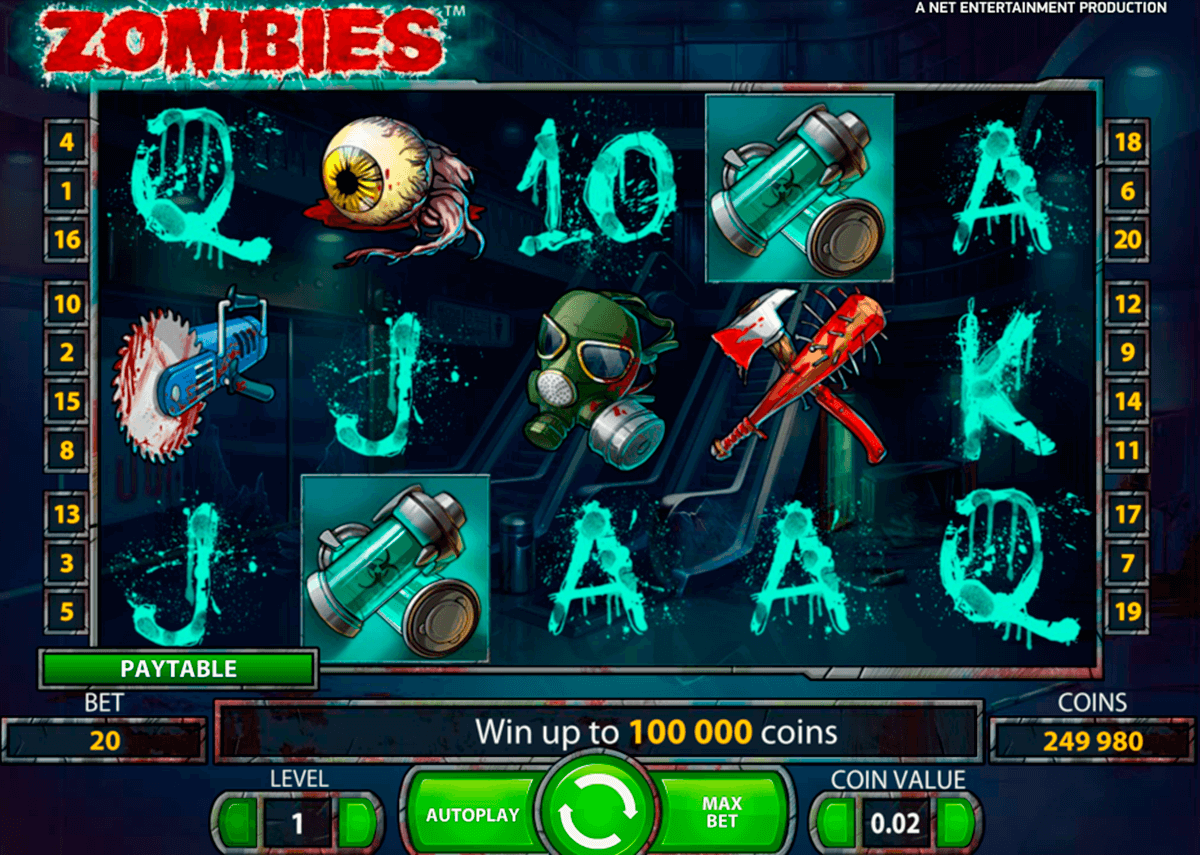 Zombies netent machine a sous